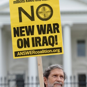 June 21, 2014 - Washington, District of Columbia, U.S. - A man participates in a demonstration against war on Iraq outside the White House in Washington D.C. on Saturday. (Credit Image: © Yin Bogu/Xinhua/ZUMAPRESS.com)